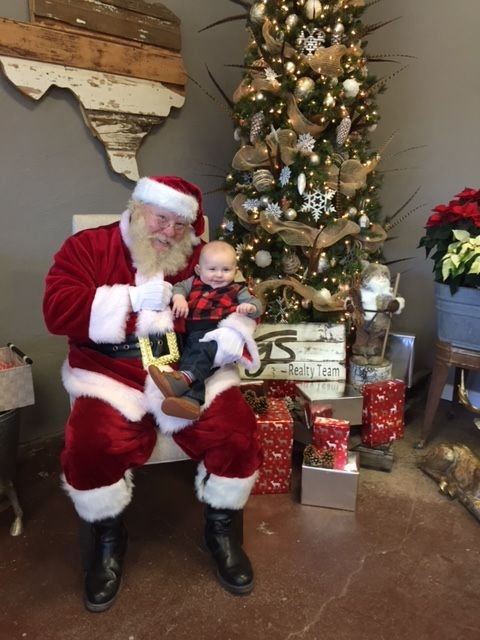 Santa with baby